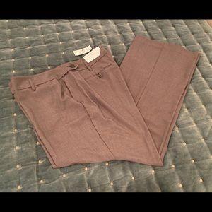 Loft nwts size 14 gray curvy trouser